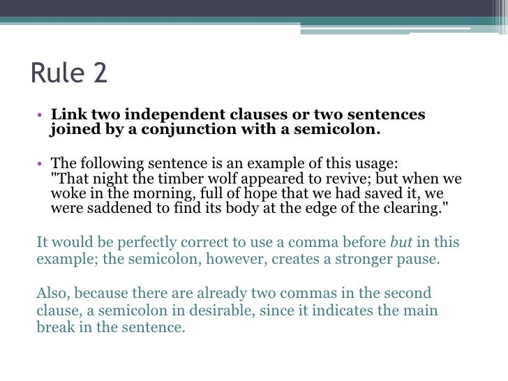 Tips For Using The Semi Colon