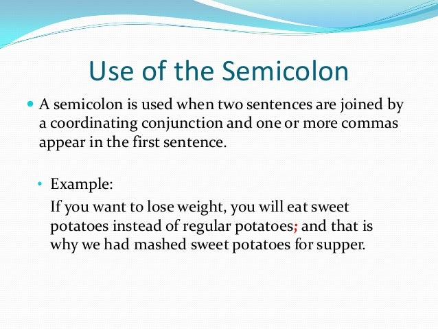 what does a semi colon mean