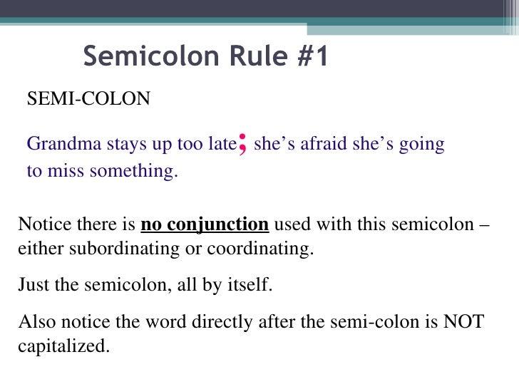 The semicolon power point 2010