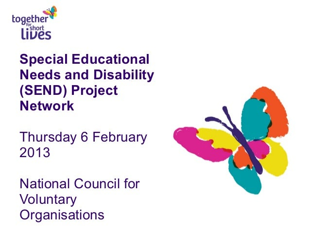 Special Educational Needs and Disability (SEND) Project Network Thursday 6 February 2013 National Council for Voluntary Or...