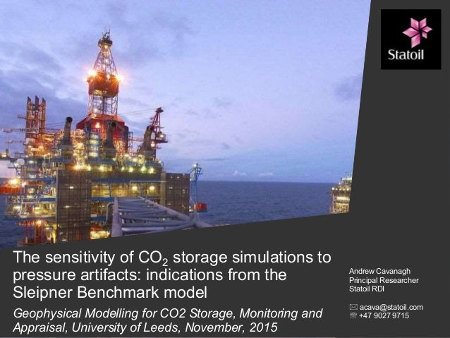The sensitivity of CO2 storage simulations to pressure artifacts: indications from the Sleipner Benchmark model Geophysica...