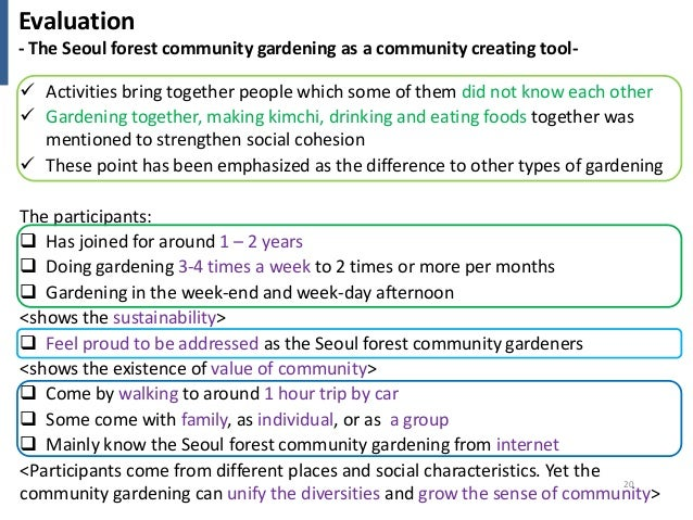 Community gardening activities as a community creating for Gardening tools with meaning