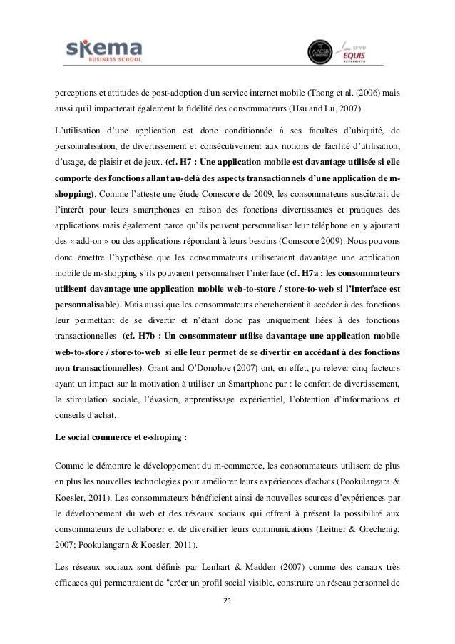 21 perceptions et attitudes de post-adoption d'un service internet mobile (Thong et al. (2006) mais aussi qu'il impacterai...