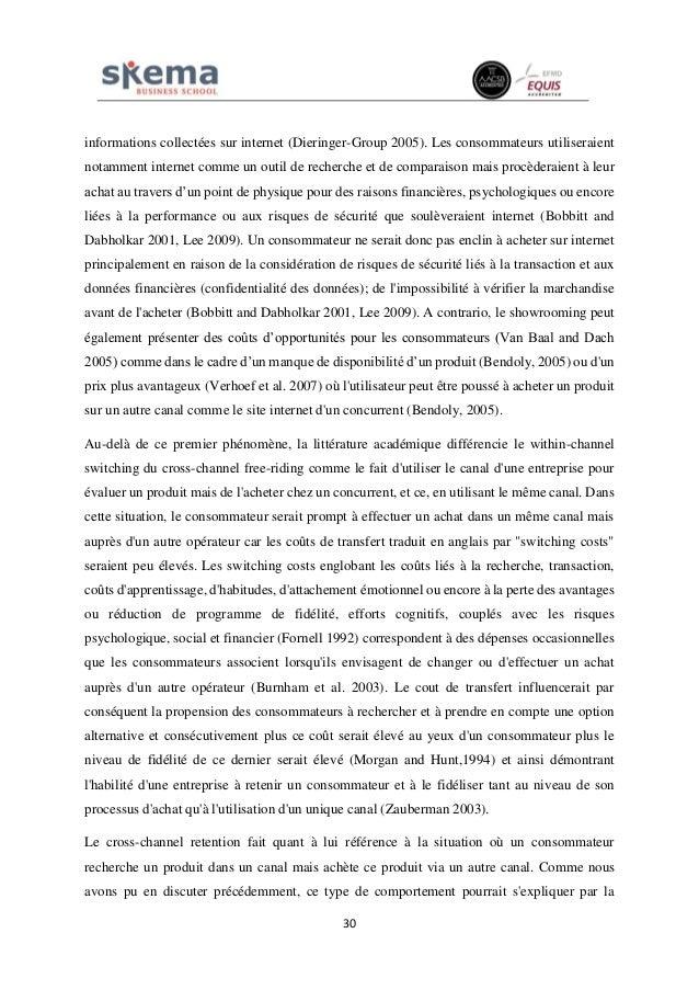 30 informations collectées sur internet (Dieringer-Group 2005). Les consommateurs utiliseraient notamment internet comme u...