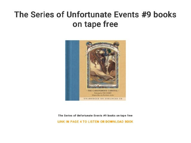 The Series Of Unfortunate Events 9 Books On Tape Free