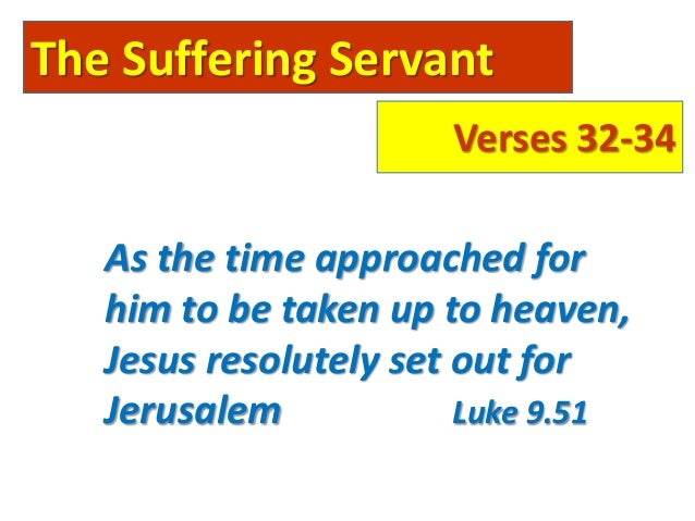 """The Submissive Servant Verses 35-45 Jesus asked them, """"What were you arguing about on the road?"""" But they kept quiet becau..."""