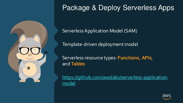 © 2018, Amazon Web Services, Inc. or its Affiliates. All rights reserved. Package & Deploy Serverless Apps Serverless Appl...