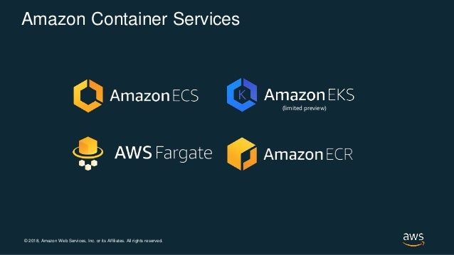 © 2018, Amazon Web Services, Inc. or its Affiliates. All rights reserved. Amazon Container Services (limited preview)