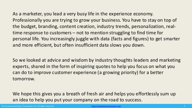 Insightful Quotes To Plan The Future Of Customer Experience Slide 2