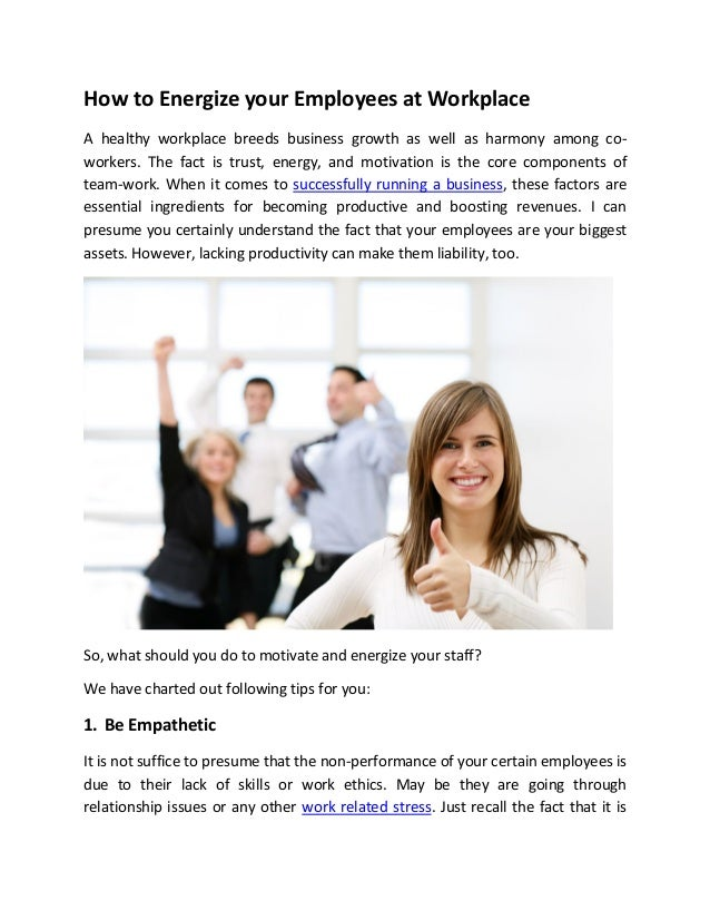 relationship between employee motivation and productivity Motivation and productivity related to job satisfaction abstract the relationship between job satisfaction, motivation, and efficiency or productivity is very important in the business industry as well as in personal life.