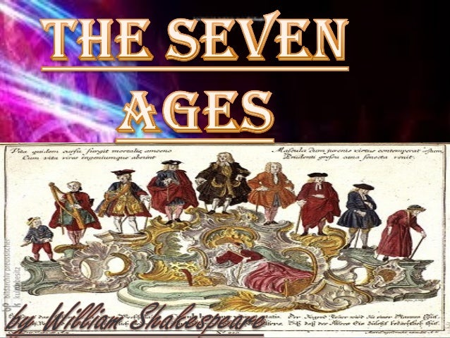 seven ages by william shakespeare Seven ages of man by william shakespeare all the world's a stage, and all the men and women merely players, they have their exits and entrances, and one man in his time plays many parts, his acts being seven ages at first the infant.