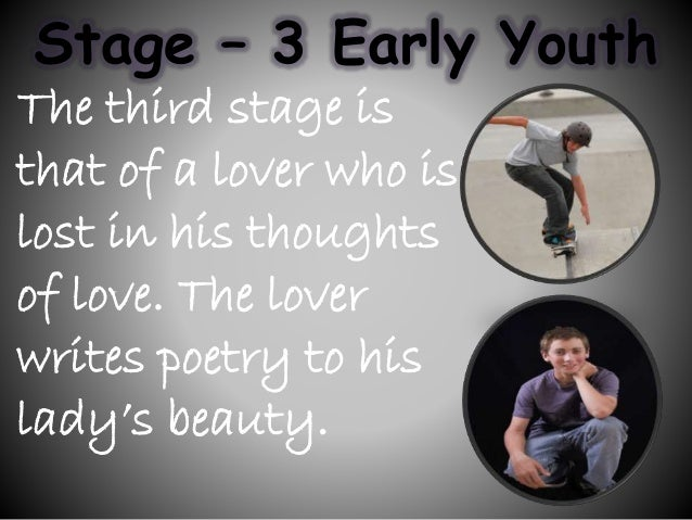 seven stages of man The seven stages of life what is the total process of human growth what would occur in us if we were able to grow to the.