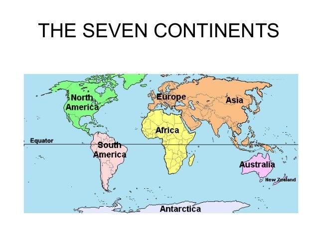 The Seven Continents - Name the seven continents
