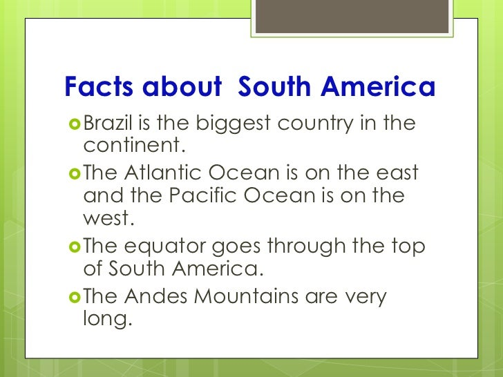 The seven continents ppt presentation for Good facts about america