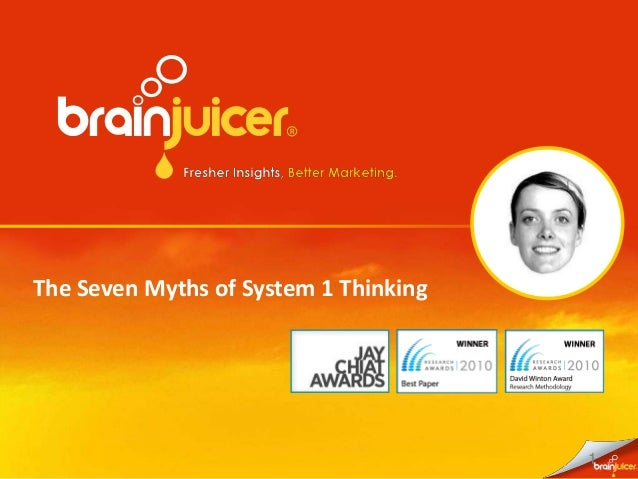 1 The Seven Myths of System 1 Thinking