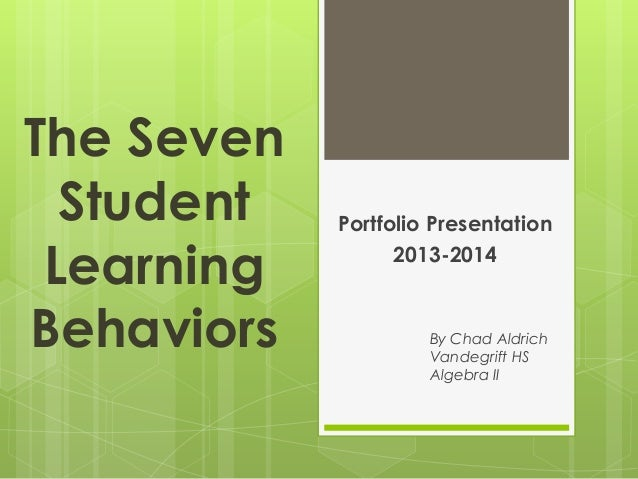 the seven student learning behaviors