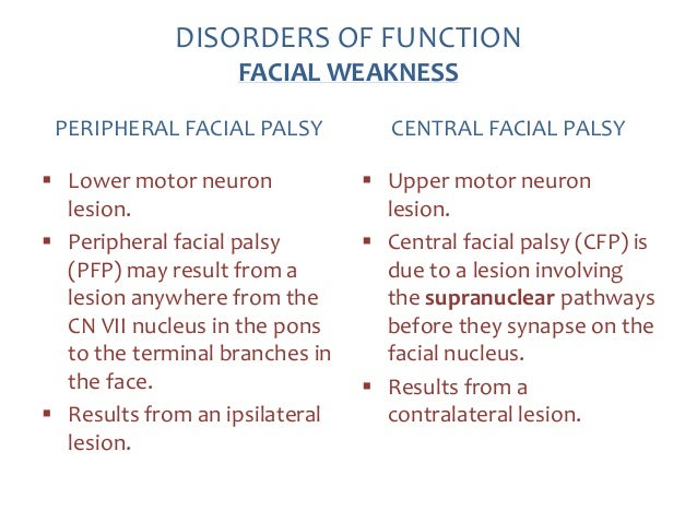 Peripheral facial nerve