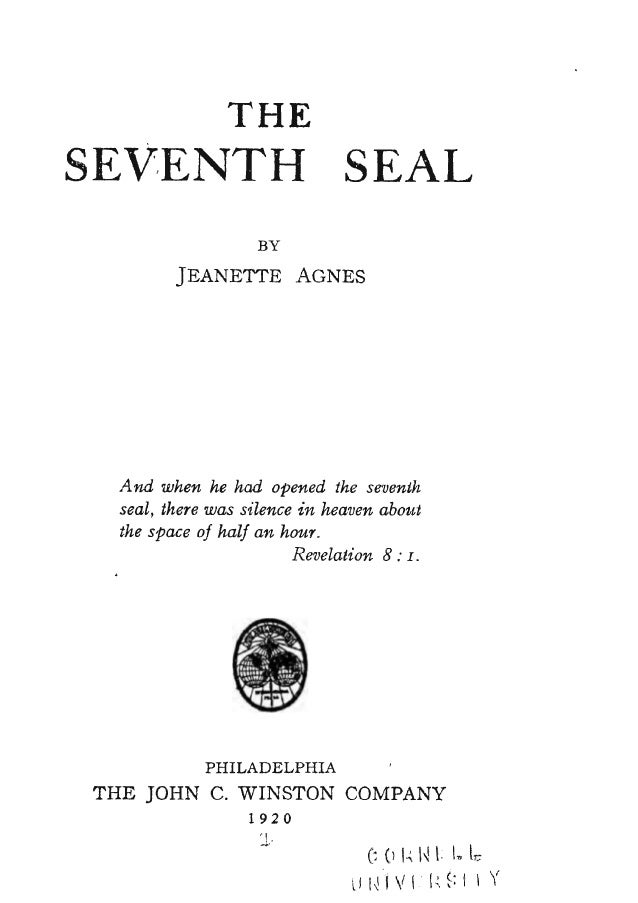 The Seventh Seal 1st Edition Agnes Jeanette, Free eBook