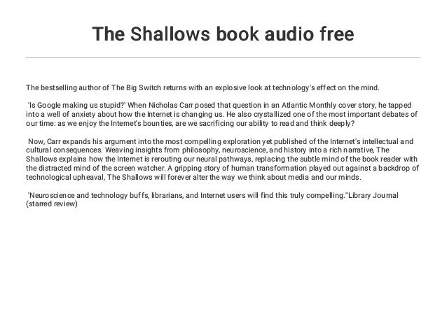 the shallows book review