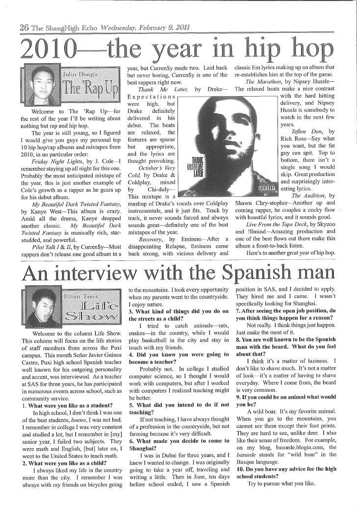 The ShangHigh Echo - Wednesday February 9, 2011