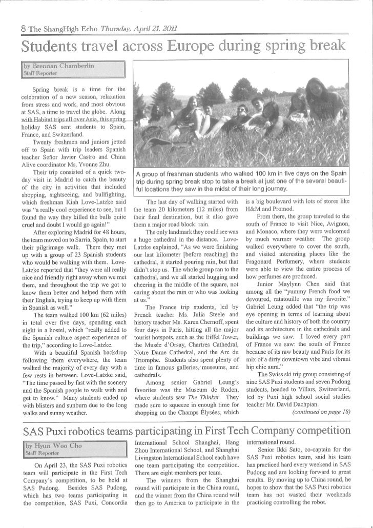 The ShangHigh Echo - Thursday April 21 2011 - Page 8