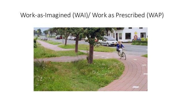 Work-as-Imagined (WAI)/ Work as Prescribed (WAP)