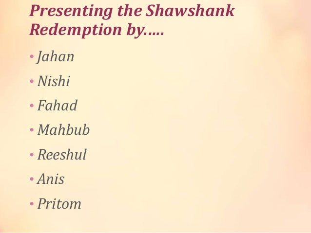 the shawshank redemption essay the shawshank redemption bethinking org shawshank redemption essay topics essay shawshank redemption essay topics shawshank redemption