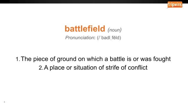 Tripwire University Boot Camp – The Shifting Landscape: Know Your Battlefield Slide 3