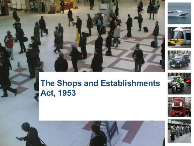 The Shops and Establishments Act, 1953