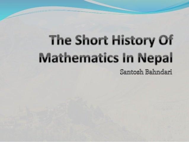 history of mathematics project