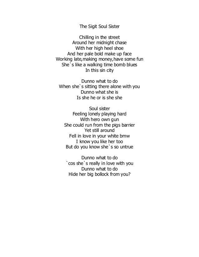 Lyric midnight blues lyrics : The sigit soul sister
