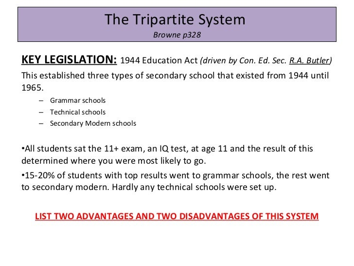the education act 1944 The new legislation, the education act 1981 (referred to in this article as ea  1981),  tion act 1944 (ea 1944)17 further enactments of education law in  the.