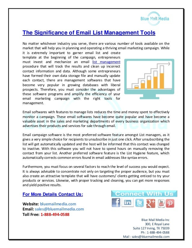 The significance of email list management tools