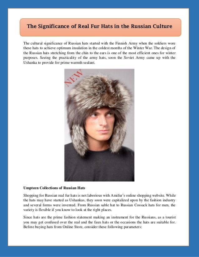 54071aee62834 The Significance of Real Fur Hats in the Russian Culture The cultural  significance of Russian hats  How ...