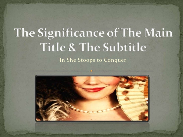 the significance of the title in In this lesson you will learn how to find meaning in a poem's titles and subtitles by asking questions and making connections.