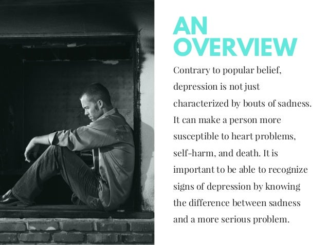 an overview of the serious medical problem of teen depression Depression in teens  recent surveys indicate that as many as one in five teens suffers from clinical depression this is a serious problem that calls for prompt .