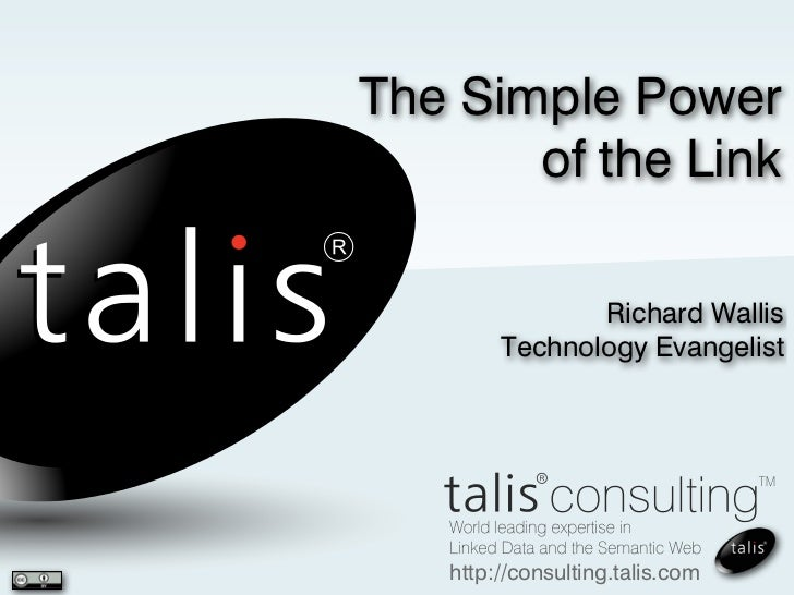 The Simple Power       of the Link               Richard Wallis        Technology Evangelist   http://consulting.talis.com