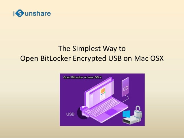 The Simplest Way to Open BitLocker Encrypted USB on Mac
