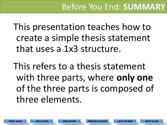 Thesis Statement Example for a Study Question