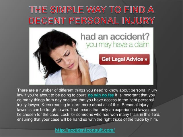 There are a number of different things you need to know about personal injury law if you're about to be going to court. no...