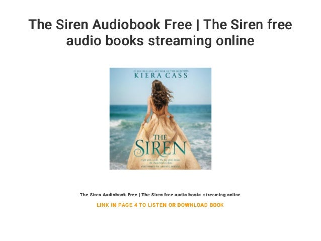 The Siren Audiobook Free | The Siren free audio books