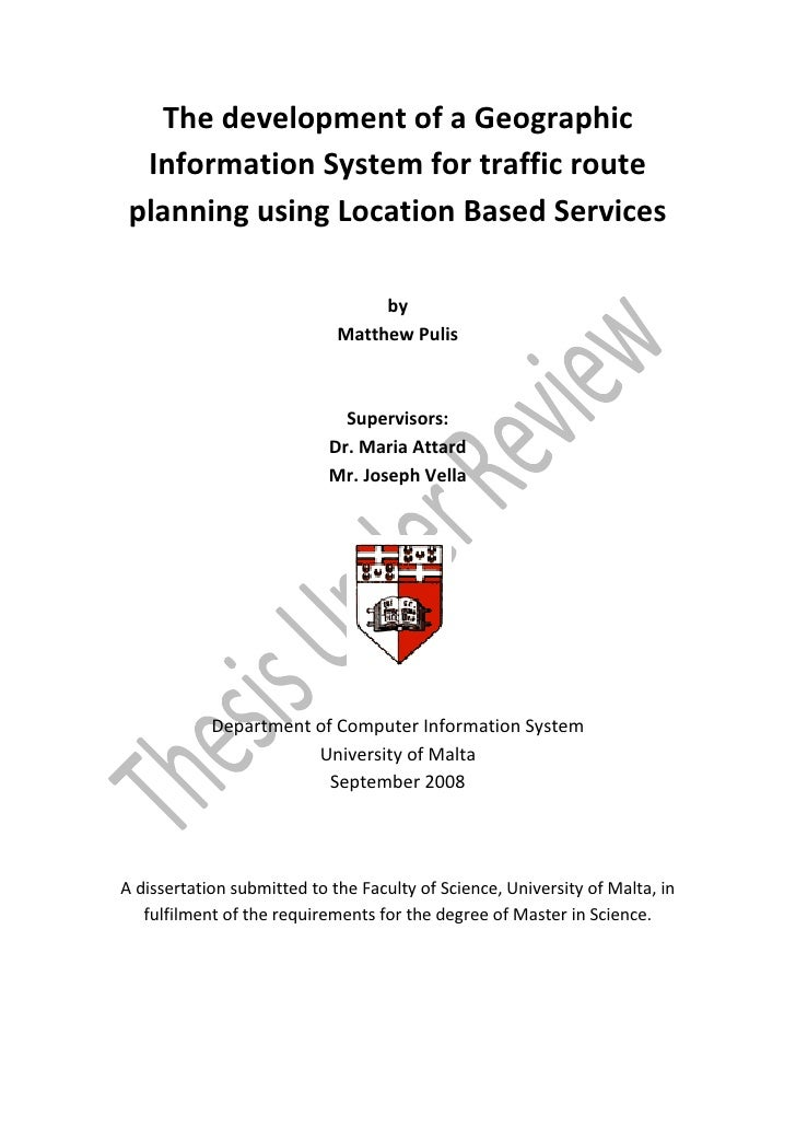 The development of a Geographic  Information System for traffic route planning using Location Based Services              ...