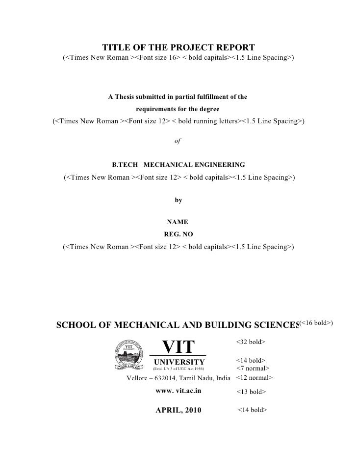 Mechanical engineering master thesis title