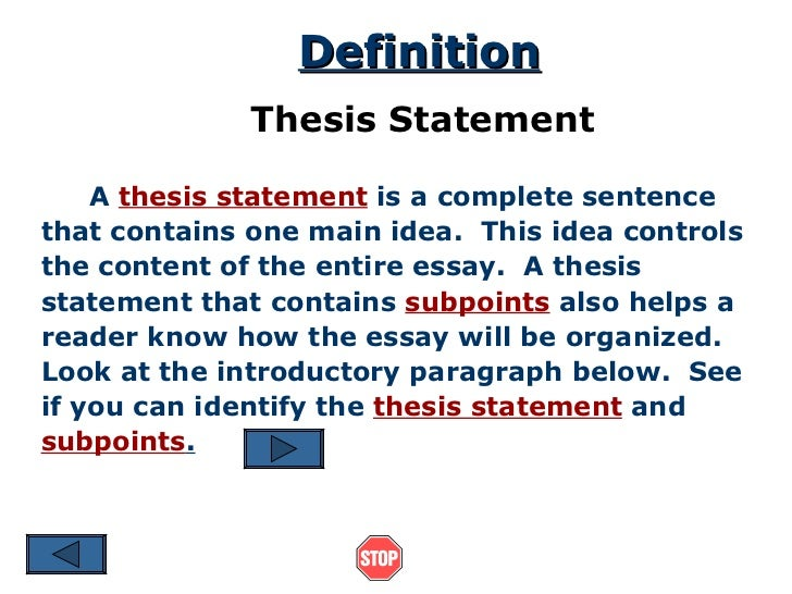 Thesis What Does It Mean