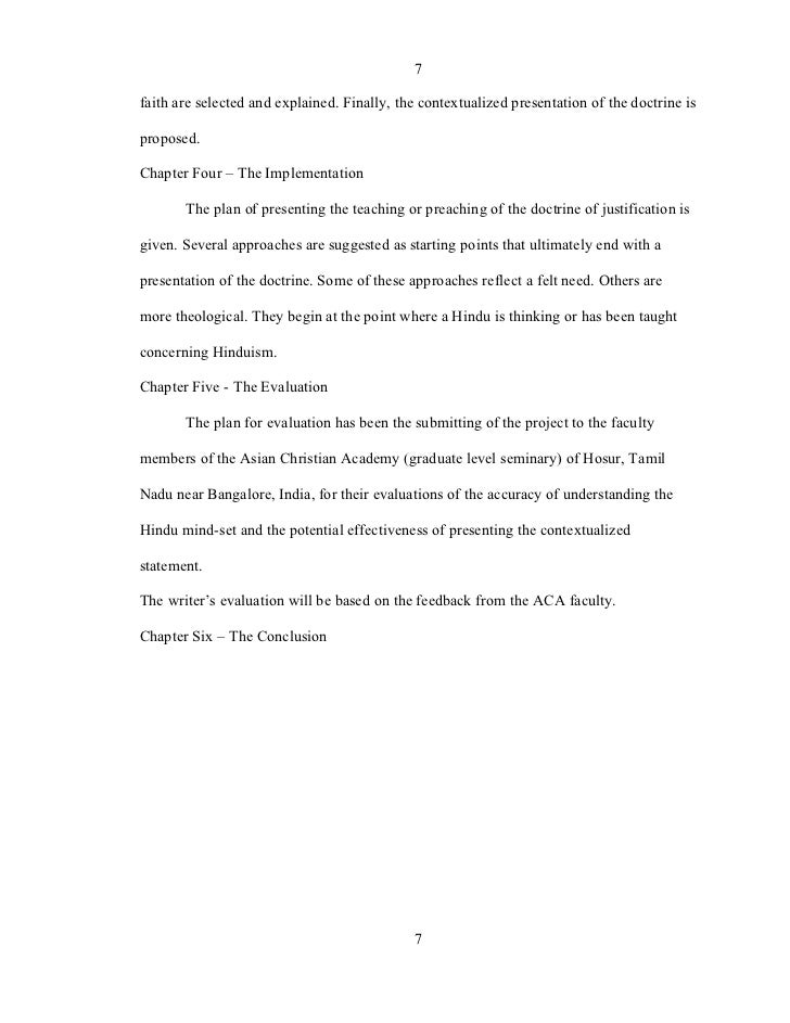 Thesis Statement On Justification By Faith – 453869