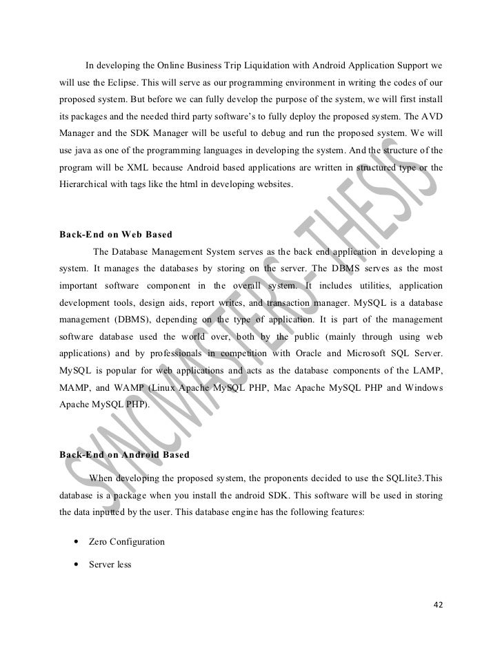 Technical background thesis writing