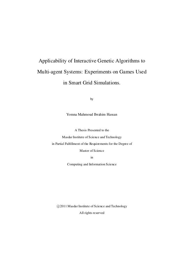 Applicability of Interactive Genetic Algorithms to Multi-agent Systems: Experiments on Games Used in Smart Grid Simulation...
