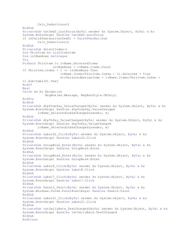 Computerized payroll system thesis 2010