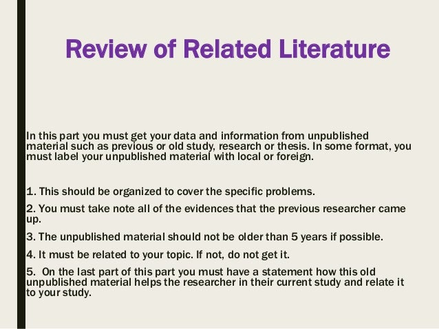foreign review of related literature essay