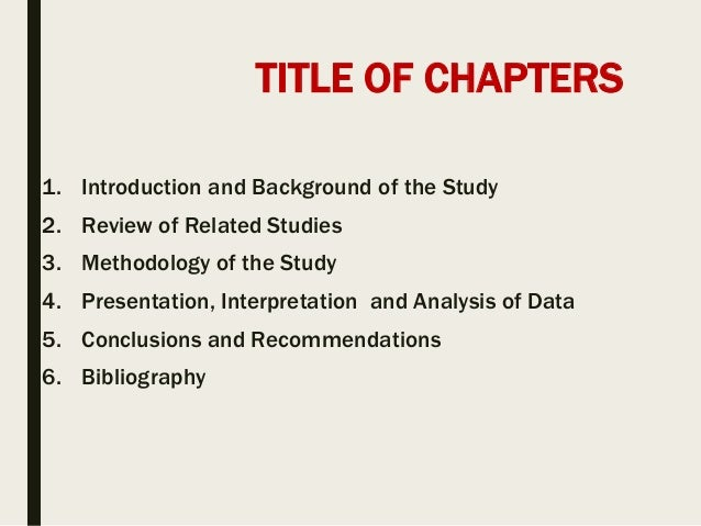 bibliography of a thesis